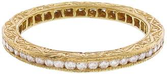 Couture Sethi White Diamond Channel Set Band Ring - Yellow Gold