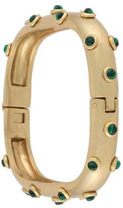 Tory Burch Studed Stone Square Hinged Bracelet
