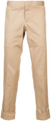 Thom Browne Unconstructed Low Rise Skinny Trouser In Khaki Denim