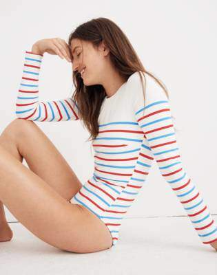 Solid & Striped Margot One-Piece Swimsuit in Breton Stripe