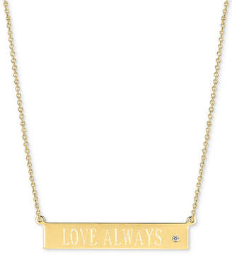 "Sarah Chloe Diamond Accent ""Love Always"" Pendant Necklace, 16"" + 2"" extender"
