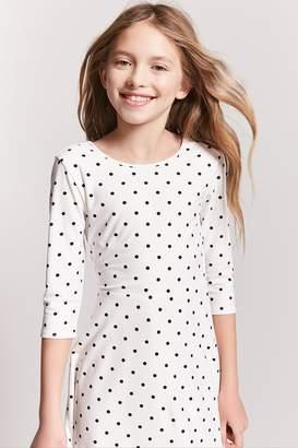 Forever 21 Girls Polka Dot Skater Dress (Kids)