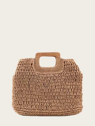 Shein Woven Tote Bag With Double Handle