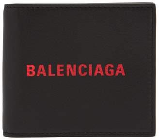 Balenciaga Logo-embossed bi-fold leather wallet