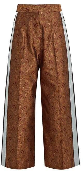 HILLIER BARTLEY Paisley-jacquard silk track pants