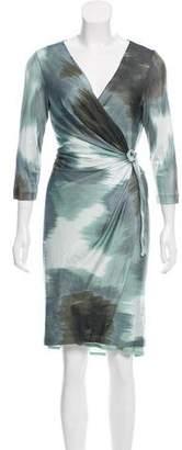 Diane von Furstenberg Printed Wrap Dress w/ Tags