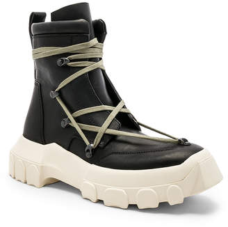 Rick Owens Leather Lace Up Hiking Boots