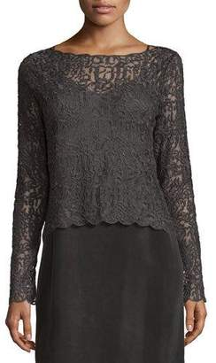 NIC+ZOE Brushed Lace Long-Sleeve Top $398 thestylecure.com