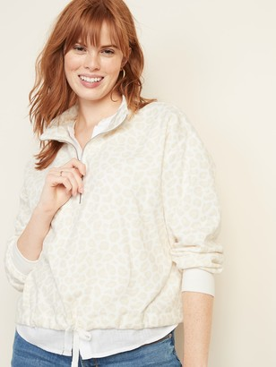 Old Navy French Terry 1/4-Zip Drawstring-Hem Pullover for Women