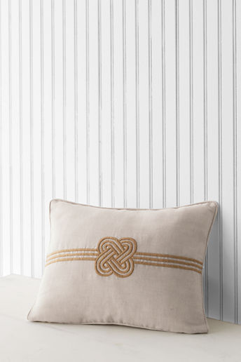 Lands' End 12 x 16 Embroidered Knot Decorative Pillow Cover