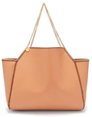 Stella McCartney Falabella Reversible Faux Leather Tote - Womens - Tan Multi