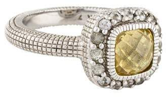 Judith Ripka Canary Crystal & White Sapphire Ring