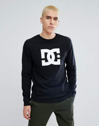 DC Long Sleeve T-Shirt With Star Logo In Black