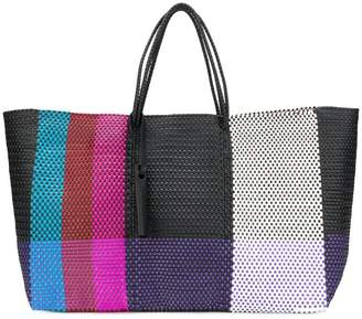 Truss Nyc wide striped tote