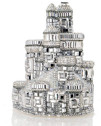 Judith Leiber Couture Schloss Castle Crystal Clutch Bag