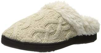 Isotoner Women's Cable Knit Bridget Clog Slippers
