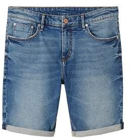 Mango Man MANGO MAN Medium wash denim bermuda shorts