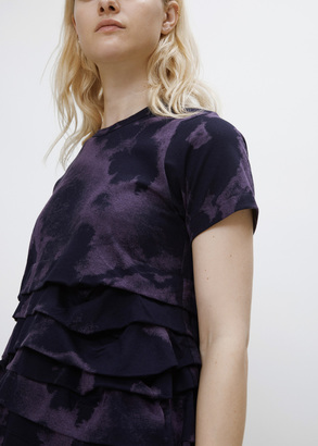 Comme des Garcons navy s/s/ ruffle bottom tee $548 thestylecure.com