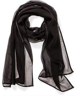 The Two Mrs Grenvilles Silk Wrap With Satin Bindong