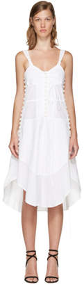 Chloé White Sleeveless Button Dress
