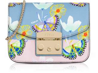 Furla Butterfly Printed Toni Veronica Leather Metropolis Mini Crossbody Bag