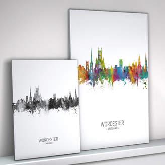 artPause Worcester Skyline Portrait Print And Box Canvas
