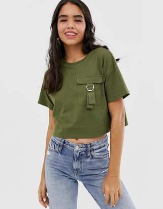 Asos Design DESIGN cropped t-shirt with utility pocket