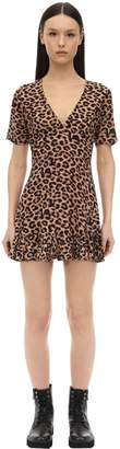 Victoria's Secret The People AMOS LEOPARD PRINT RAYON DRESS
