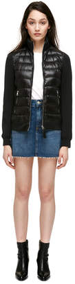 Mackage DESTA Semi-fitted down jacket with jersey collar and sleeves