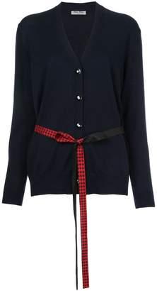 Miu Miu gingham belt cardigan