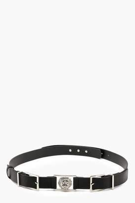boohoo Plus Lion Buckle Detail Belt