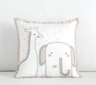Pottery Barn Kids Baby Animal Decorative Pillow, 12x12 Inches