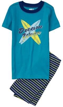 Crazy 8 Dream Wave Shortie 2-Piece Pajama Set