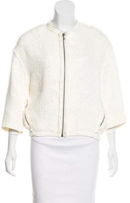 Lanvin Linen-Blend Tweed Jacket w/ Tags