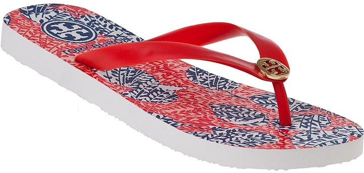 Tory Burch Printed Flip Flop Habanero Pepper Vigne