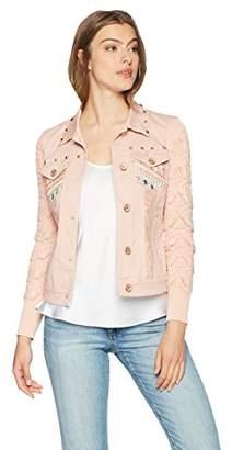 Desigual Women's Zaira Embroidered Detail Denim Jacket