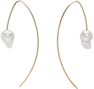 Pearls Before Swine Gold Akoya Baroque Pearl Earrings