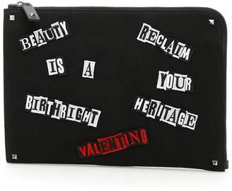 Valentino Jamie Reid Document Case