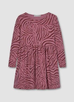 Mint Velvet Pink Zebra Print Jersey Dress