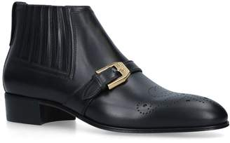 Gucci Leather Brogue Boots