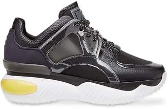 Fendi sheer panels chunky sneakers