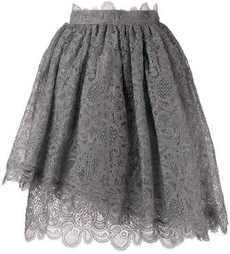 Ermanno Scervino scalloped lace pattern skirt