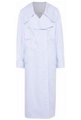 Maison Margiela Striped Cotton-Poplin Trench Coat