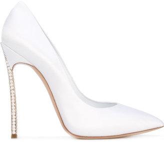 Casadei embellished heel pumps $1,255 thestylecure.com