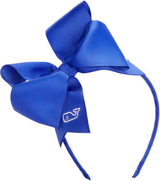 Vineyard Vines Girls Solid Grosgrain Bow Headband
