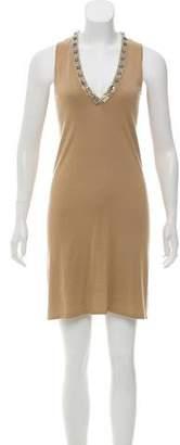 Magaschoni Embellished Silk Dress