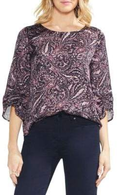 Vince Camuto Sapphire Bloom Printed Blouse