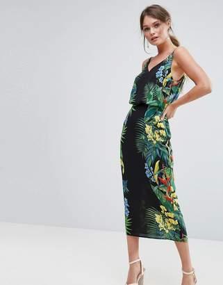 Oasis Tropical Placement Midi Cami Dress $87 thestylecure.com
