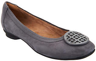 Clarks Artisan Leather Ballet Flats - CandraBlush