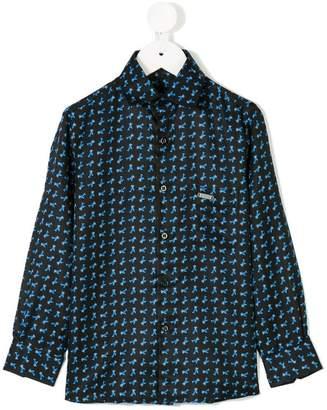 Stefano Ricci Kids aeroplane motif shirt